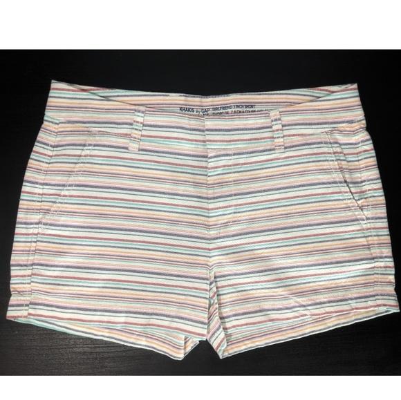GAP Pants - Gap Khakis By Gap Girlfriend Striped Shorts